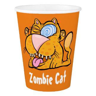 間抜けなモンスターのゾンビ猫の紙コップ 紙コップ