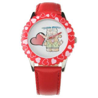 間抜けなモンスターの柔らかいハートの腕時計 腕時計
