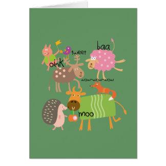 間抜けな動物 カード