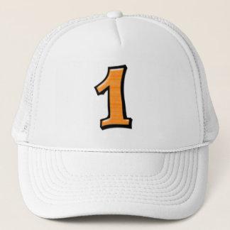 間抜けな数1つのオレンジ帽子 キャップ
