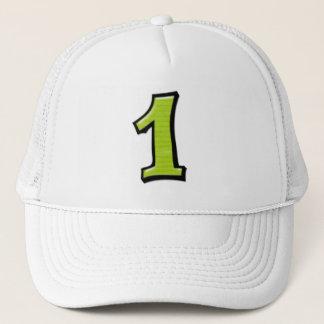 間抜けな数1つの緑の帽子 キャップ