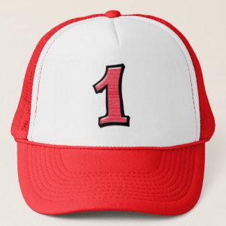 間抜けな数1つの赤い帽子 キャップ