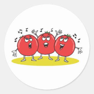 間抜けな歌うトマトのトリオ ラウンドシール