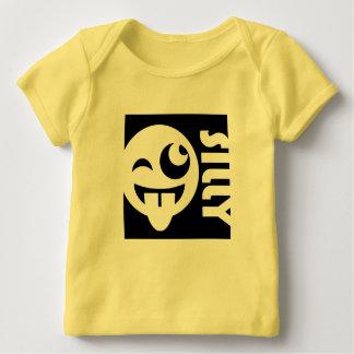 間抜けな正方形のEmojiは直面します ベビーTシャツ