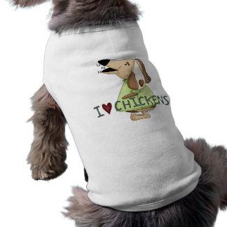 間抜けな犬I愛鶏Ha Ha Haペット衣類 ペット服