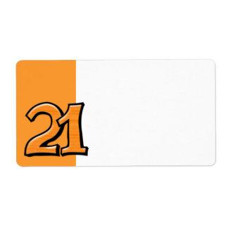 間抜けな第21オレンジの宛名ラベル ラベル
