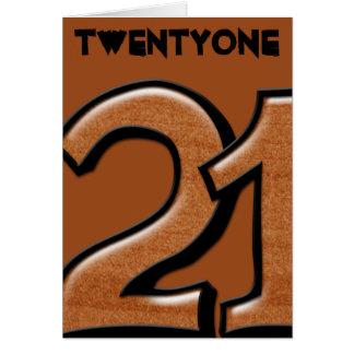 間抜けな第21チョコレートメッセージカード カード