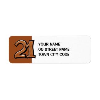 間抜けな第21チョコレート差出人住所ラベル ラベル