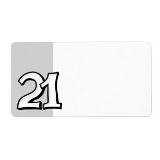 間抜けな第21白の宛名ラベル ラベル
