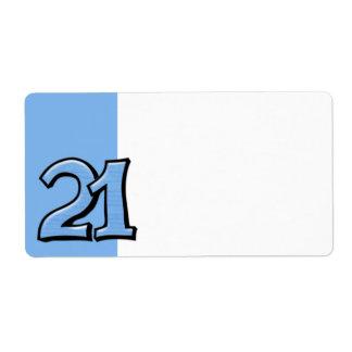 間抜けな第21青の宛名ラベル ラベル