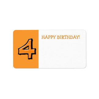 間抜けな第4オレンジの誕生日プレゼントのステッカー ラベル