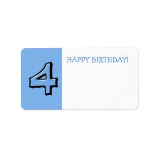 間抜けな第4青の誕生日プレゼントのステッカー ラベル