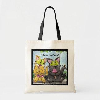 間抜けなSharedy猫-およびTig トートバッグ