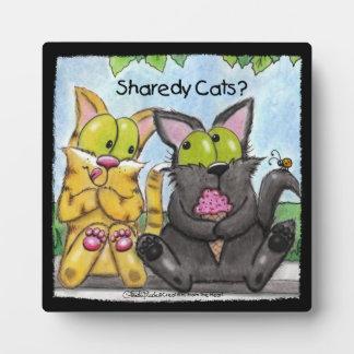 間抜けなSharedy猫-およびTig フォトプラーク