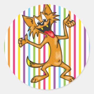 間抜けに機能している漫画猫 ラウンドシール
