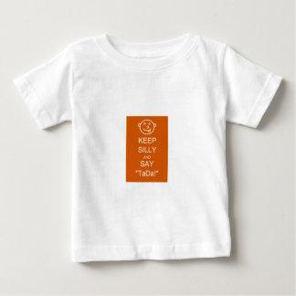 間抜け保って下さい及びTaDaを言って下さい ベビーTシャツ