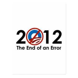 間違いのオバマの終わり ポストカード