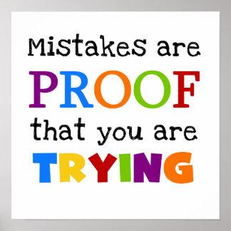 間違いはあなたが試みている証拠です ポスター
