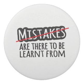 間違いはから学ばれることをそこにあります 消しゴム