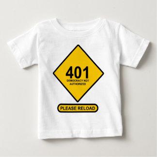 間違い401: 承認されない民主主義 ベビーTシャツ