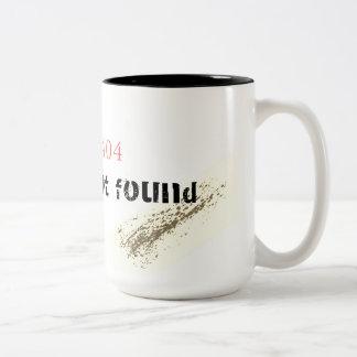 間違い404: 見つけられない性 ツートーンマグカップ