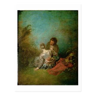 間違い、c.1717 (キャンバスの油) ポストカード