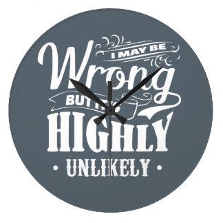 間違うそれはほぼ不可能な柱時計です ラージ壁時計