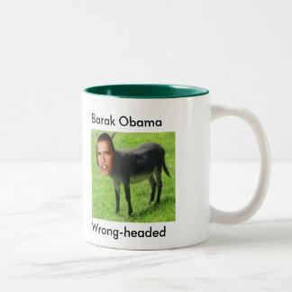 間違ったまま、バラクオバマのマグ ツートーンマグカップ