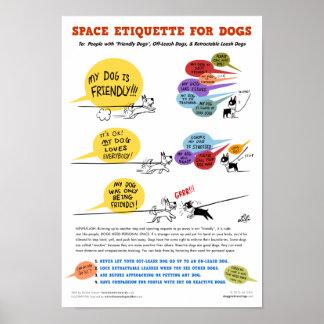 """間隔をあけて下さい犬ポスター- 22 x 32""""のためのエチケットの ポスター"""