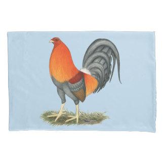 闘鶏の紫系統のオンドリ 枕カバー