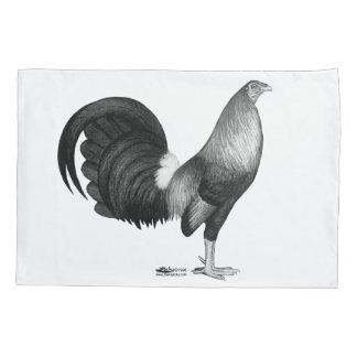 闘鶏の赤のハッチ 枕カバー