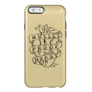 防弾ハートのiPhone 6の金ゴールドの場合 Incipio Feather Shine iPhone 6ケース