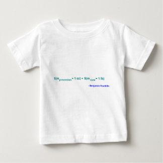 防止のオンスは治療のポンドの価値があります ベビーTシャツ