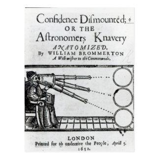 降りるFrontispieceの自信; 天文学者 ポストカード