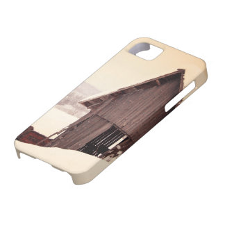 降雪の素朴な納屋 iPhone SE/5/5s ケース