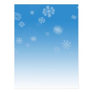 降雪 ポストカード