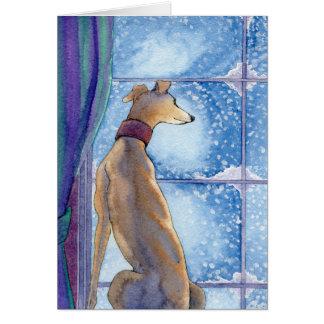 降雪-休日カード カード