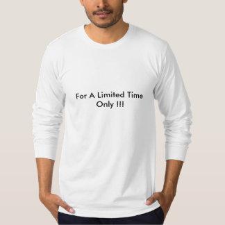 限られた時間-戦争だけ Tシャツ