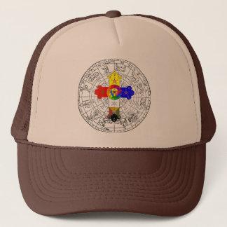 限定版の密閉(占星術の)十二宮図およびばら色の十字の帽子 キャップ