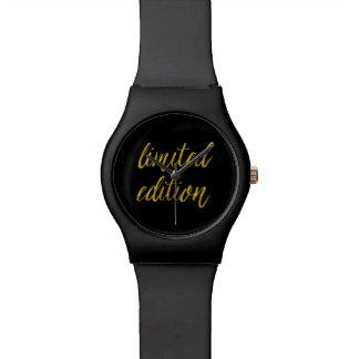 限定版の引用文の模造のな金ゴールドホイルはユーモアを引用します 腕時計