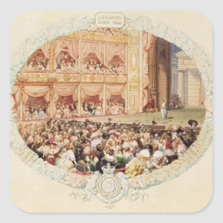 陛下の劇場のインテリア、seの終わり スクエアシール