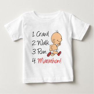 除行の歩行の操業マラソン ベビーTシャツ