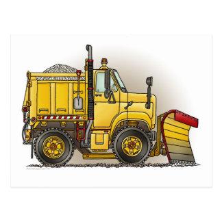 除雪機のトラックの郵便はがき ポストカード