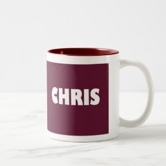 陰のクリスのあずき色の名前 ツートーンマグカップ