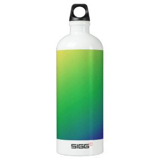 陰の緑の黄色: 文字のイメージの挨拶を加えて下さい ウォーターボトル