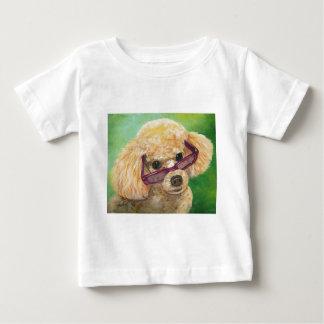 陰の芸術のオリジナルの杏子のプードル ベビーTシャツ