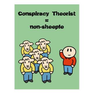 陰謀の理論家=非sheeple ポストカード