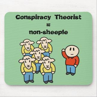 陰謀の理論家=非sheeple マウスパッド