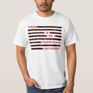 陰謀の白のTシャツ Tシャツ