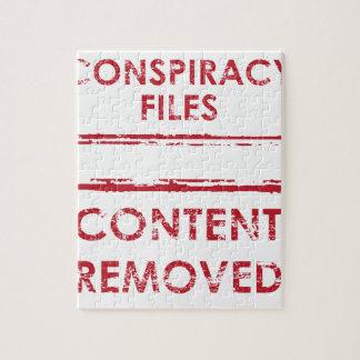 陰謀ファイルスタンプの内容によって取除かれるスタンプ ジグソーパズル